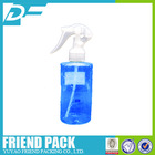 China Factory supply 200ml PET flat shoulder spray bottle with mini trigger sprayer or cosmetic product