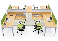 Office used workstation furniture 4 people office workstation