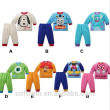 2015 hot sale cotton cartoon baby pajama children nude sleepwear