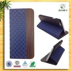 custom design man wallet genuine leather cases for iphone 6 plus