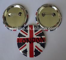 Round custom London printing metal pin badge promotion