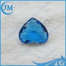 heart shape decorative blue glass gems