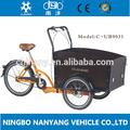 tres ruedas de carga en bicicleta triciclo pesados para el transporte de carga