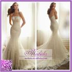 Glamorous Sweetheart Lace Wedding Dress Luxury Beaded Mermaid Wedding Dress