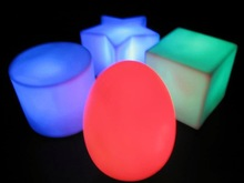 wholesale Color Changing Waterproof Rechargeable Oblate Color Change Night Club ,Party ,gardon decorative LED Cube