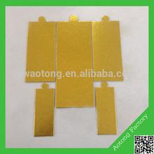 Disposable wedding rectangle golden paper plate
