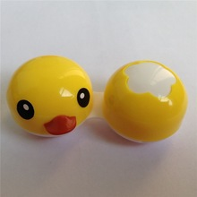 yellow duckcontact lens dual cases