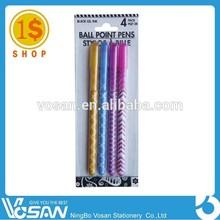 1 Dollar Shop Colorful 4pcs Glitter Gel Ink Pen In Blister Card