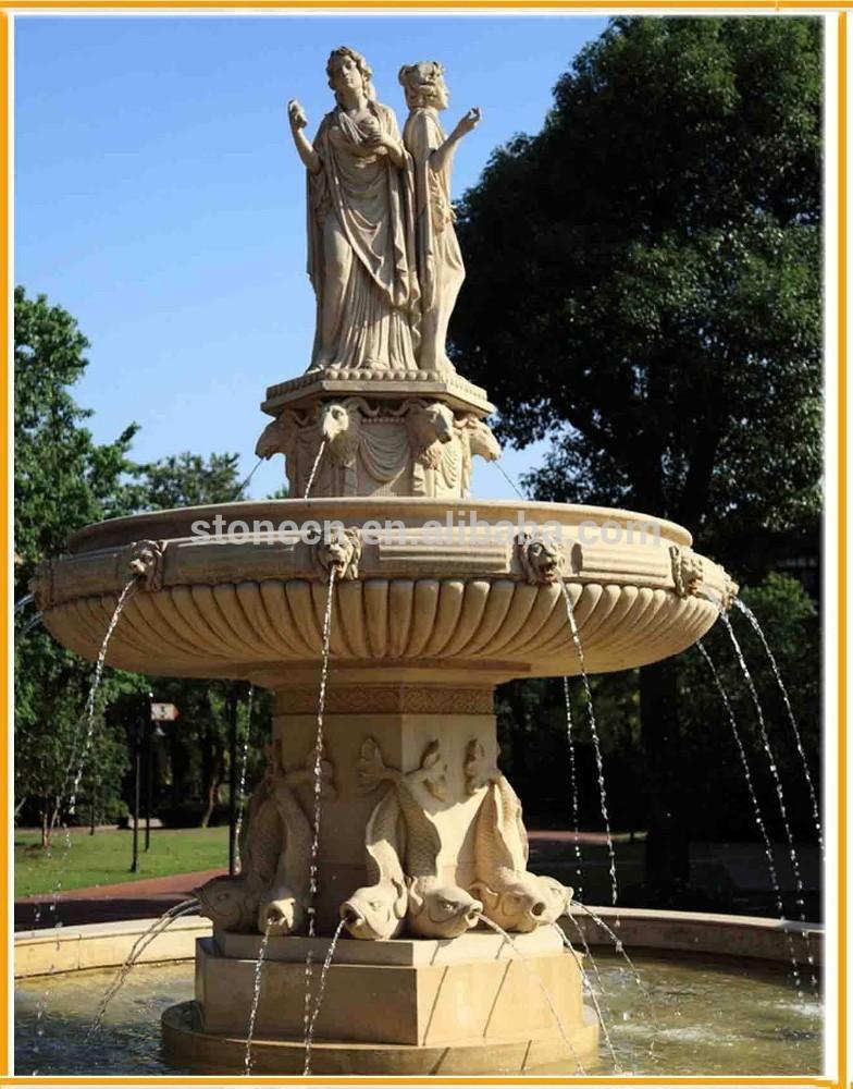 Figura scultura in pietra giardino pesce intaglio fontane in ...
