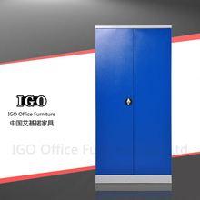IGO-Furniture 2 doors living room metal locker cabinet concealed door hinges