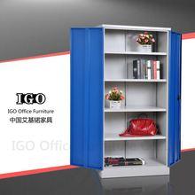 IGO-Furniture 2 doors living room metal locker two way cabinet concealed door hinges
