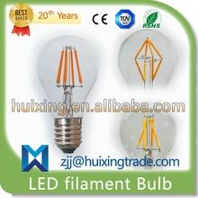 3 Years Warranty High Quality Dimmable 50000 Hours 12/10/8/6/4/2W /E14 E27 E12 E26 B22/ A19 A60 G45 C35 T25 CE LED Filament Bulb