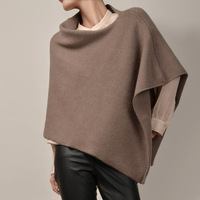 15CB9323 Cashmere Poncho heavy weight