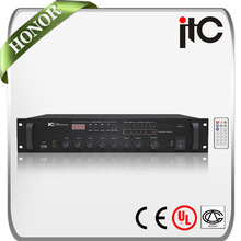ITC TI-60U Integrated power mixer amplifier with 70V/100V and Low Impedance 4-16ohm Speaker Output