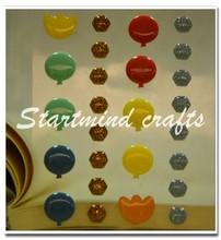 Custom enamel dot stickers, diy epoxy sticker paper,mobile phone sticker