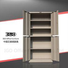 IGO-Furniture metal 4 compartment wardrobe kids wardrobe design