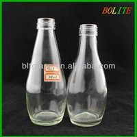 wholesale 200ml Clear Bowling Glass Bottle for Juice
