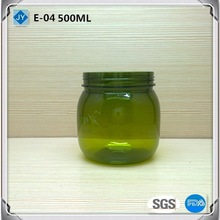 500ml 16oz Round Plastic Jar Container for Makeup Products, Food, Candy,Honey, Tea, Salt, Oil