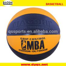 Machine Stitched wholesale PU basketball logo could be printed