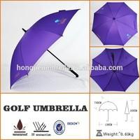factory manufacturer straight anti uv rain umbrella with purple