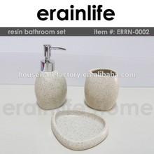 White Sandstone Round bathroom accessories set ikea