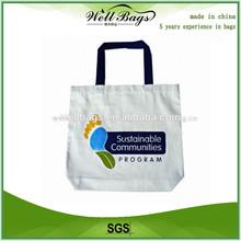 Natural recycled shopping cotton bag, Eco Shopper Cotton Bag, shopper bag
