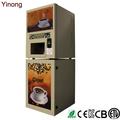 التلقائي آلة بيع القهوة الفورية مع 4 جيدوالساخنة 4 مثلج النكهات لدول أوروبا