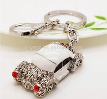 Brand Custom Rhinestone Smart Luxury Car Keychain Free Samples