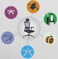 Económico cadeira de escritório peças/ cadeira de hardware