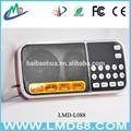 Usado rádio player venda am rádio fm com entrada aux lanterna L-088AM