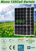 small solar panels/Kingstar solar panel mono 75w/solar air conditioner/solar charger controller/solar panel making machine/solar