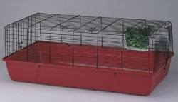 PRACTICAL wire pet cage easy to cleaning powder coated rabbit cage