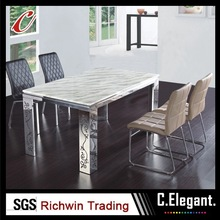 Chinese modern square glass dining table wholesale