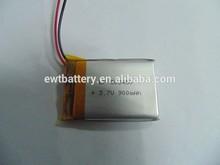 3.7v 900mah li-ion battery 503450