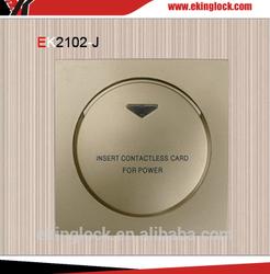 Luxury energy saving key card switch for hotel