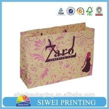 2015 Custom Logo Printed Fashion luxury cardboard New Design paper shopping bag