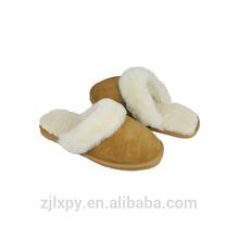2015 9006 Women sheepskin collar wool lining slipper