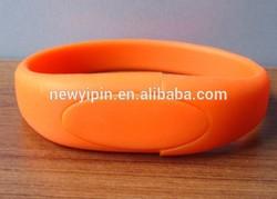 Bulk Cheap Silicon 8GB USB Flash Drives 4GB Silicon USB Bracelet / Wristband USB