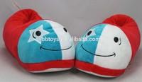 2014 hot selling plush animal shaped men slippers , stuffed plush women slippers
