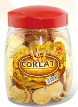milka gold coin chocolate