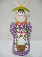 Unique holiday metal crafts metal bunny half cut top quality and fast delivery