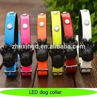 New design top paw flashing LED dog collar