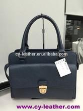 2015 fashion elegant briefcase with high quality women PU leather handbag