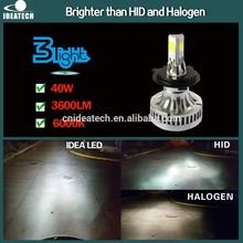 IDEA Patent 40W 3600 Lumen H4-H/L LED Headlight