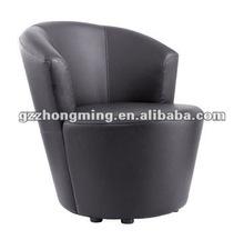 Modern cheap round leather single sofa set Bar chair ZM-41