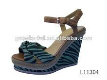 stripe cheap wedge sandals for women 2012