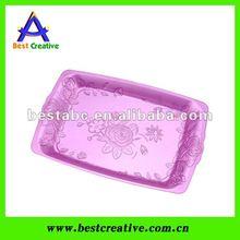 Fashionable design plastic tray
