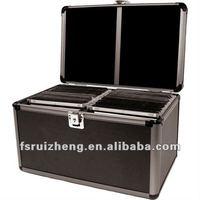 All Black Aluminum Hard CD DVD Storage Case RZ-CD1322