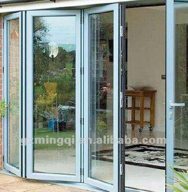 Puertas plegables de aluminio de elegante dise o puerta - Puertas plegables aluminio ...