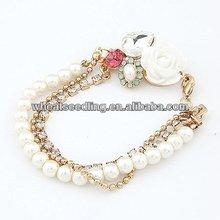 New Handmade Rhinestone Bracelets Shell/Pearl Bracelets And Bangles FB37
